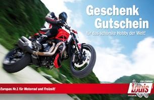 Mit einer Geschenkkarte von Europas Nr.1 für Motorrad, Technik und Freizeit verschenken Sie nicht nur Freude sondern auch Flexibilität u...