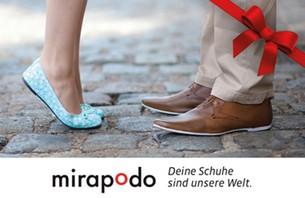 Mit über 300 Marken und mehr als 15.000 unterschiedlichen Schuhen zählt mirapodo zu den größten Online Schuhshops Deutschlands und verbi...