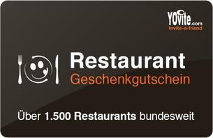 Ein Gutschein für über 1500 Restaurants! Treffen Sie immer den richtigen Geschmack. Mit dem Yovite.com Universal-Restaurant Wertgutschei...