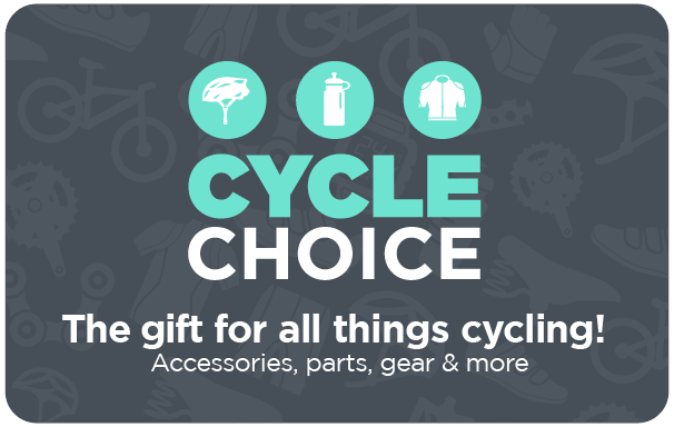 The Cycle Choice gift card is the ideal gift for bike riders. Whether they enjoy the thrill of mountain biking, the speed of road-racing...
