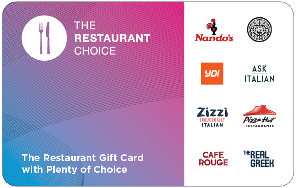 The Restaurant Choice is the number 1 multi-brand dining gift card! It makes a fantastic present for everyone and anyone. Friends, famil...